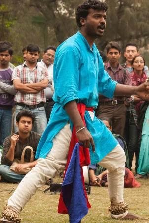 Kabir Kala Manch and Republican Panthers performing in DU