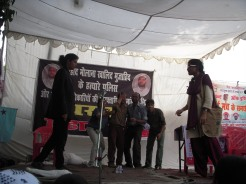 In the protest of murder of Khalid Mujahid by police, we did our Play Batla House in Lucknow